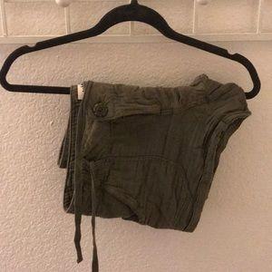 Pants - army green short shorts!!